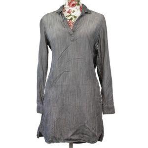 3/$35 Bella Dahl Gray Denim Chambray Dress